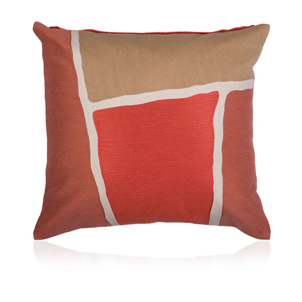 Coral Colourblock Cushion Cover