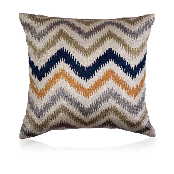 Chevron Threadwork Cushion Cover