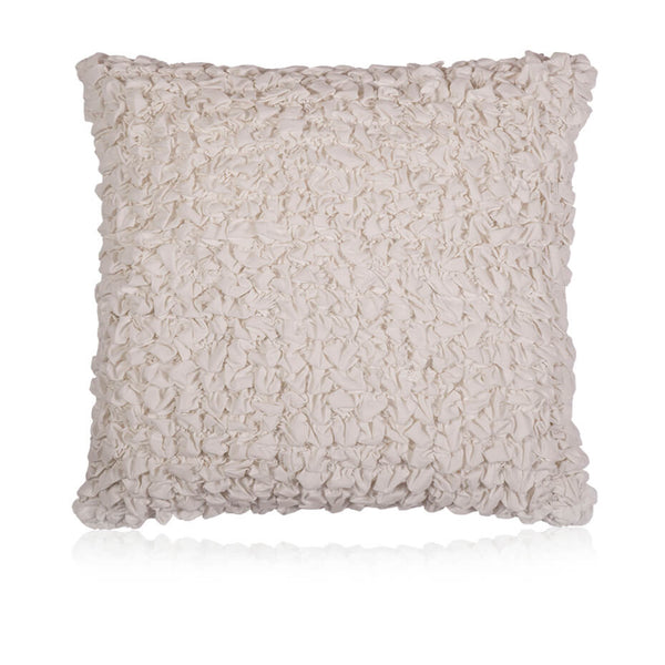 Cream Puckered Cushion Cover
