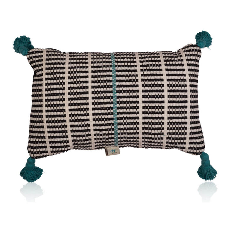 Turquoise Tassle Cushion Cover