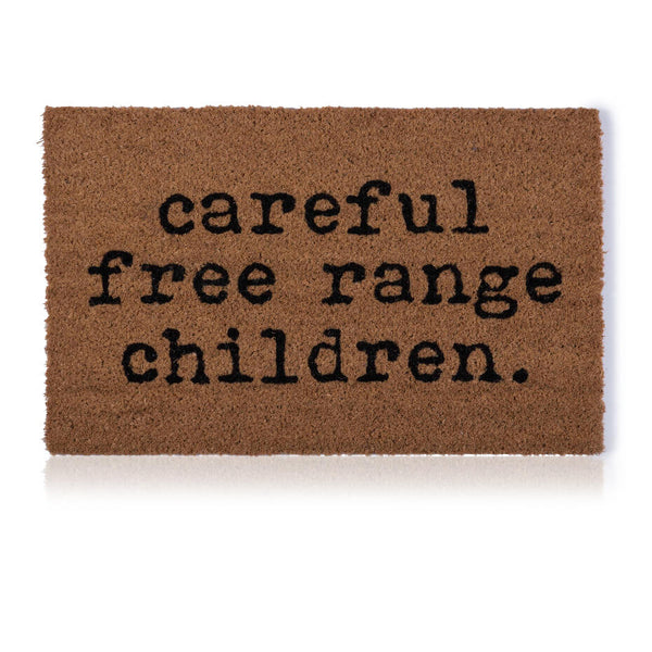 Free Range Children Door Mat
