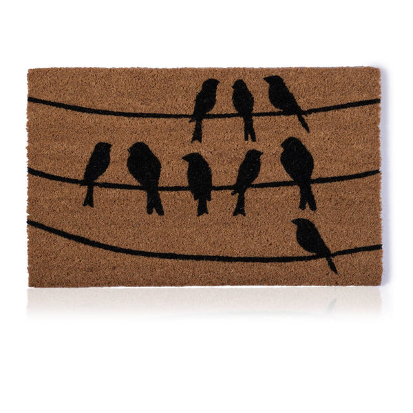 Perched Birds Door Mat