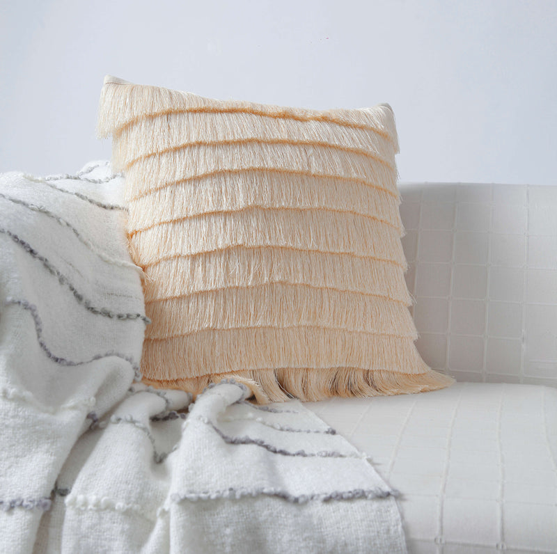 Fringe Butter Cushion Cover