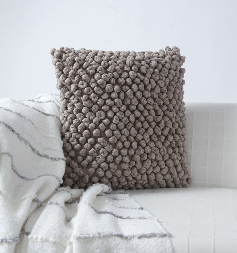 Turban Knot Taupe Cushion Cover