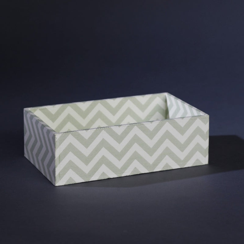 DEEP TRAY SILVER CHEVRON