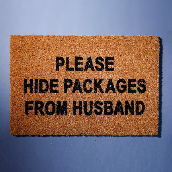 Hide Packages From Husband Front Door Mat