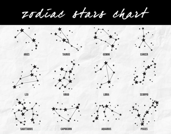 Zodiac Stars Cushion Cover