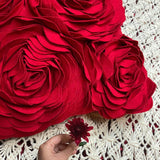 Fleur Red Cushion Cover