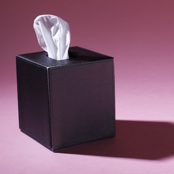 Square Tissue Box Black