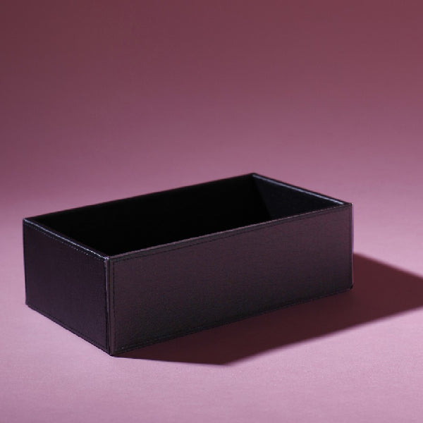 Leather Deep Tray Black