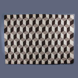 Illusion Rug - White / Grey Solid