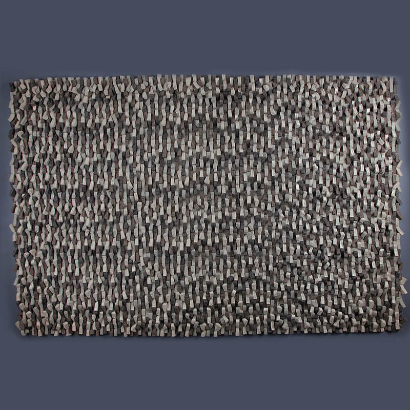 Thick Shaggy Silver/Taupe/Ivory Rug