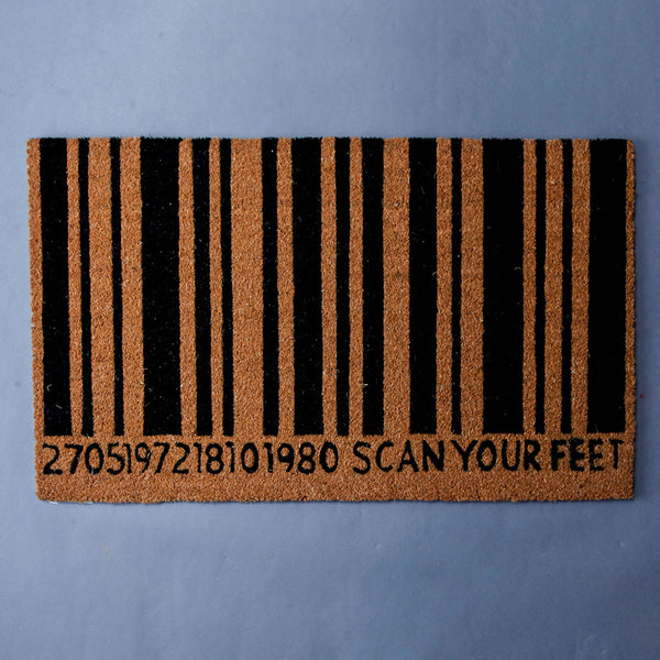 Scan Your Feet Front Door Mat