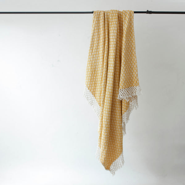 Mustard Clover Throw