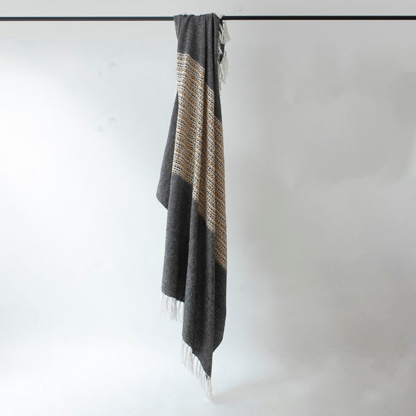 Brushed Charcoal Throw