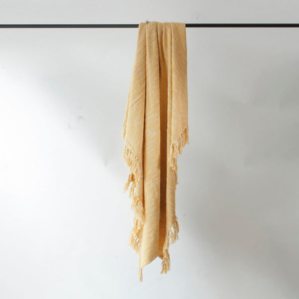 Mustard Melange Throw