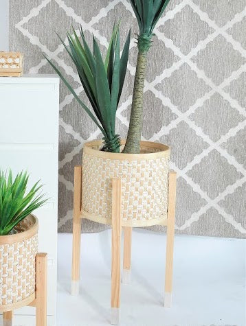 Bamboo Planter With Stand - LARGE