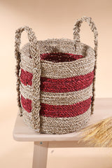 SEA WEED RED NATURAL BASKET SMALL