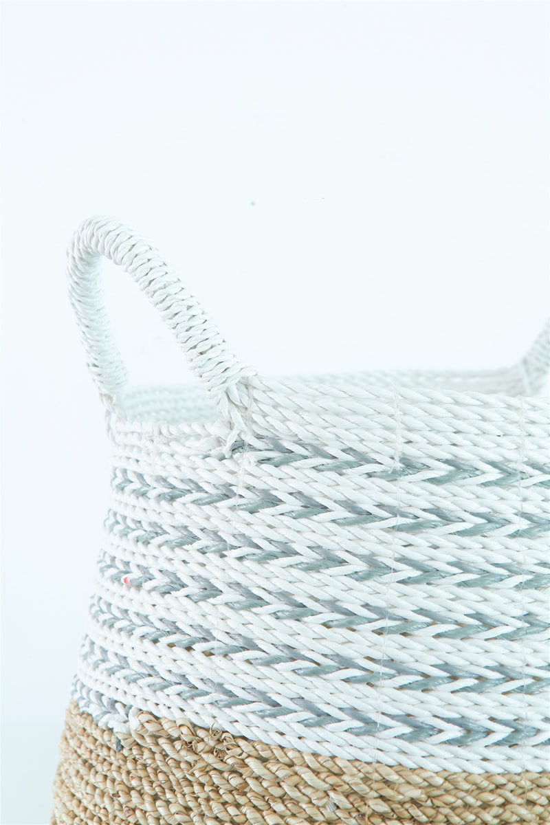 SEA WEED NATURAL GREY BASKET - LARGE