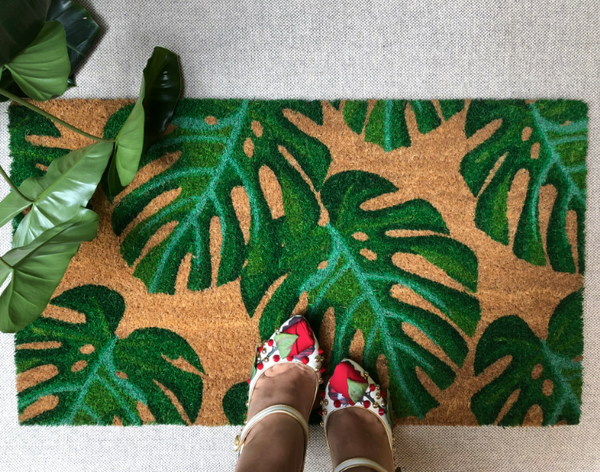Monstera Leaf Front Door Mat