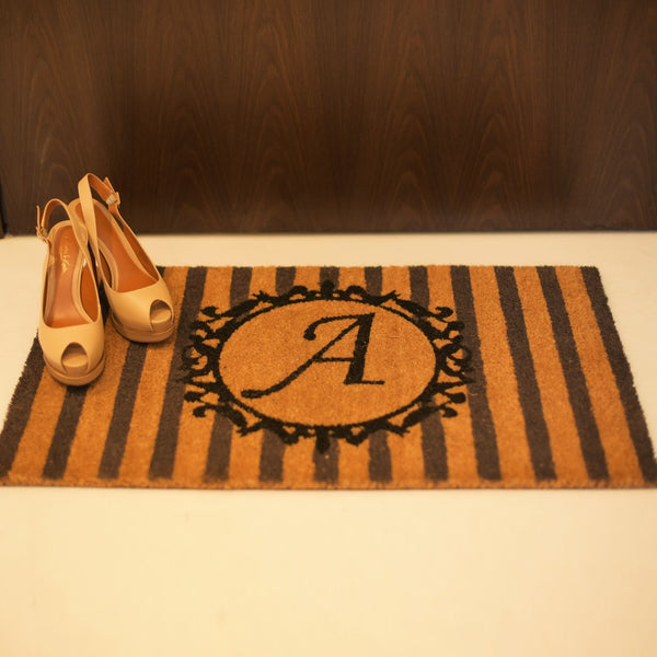 Monogram Alphabet Door Mat
