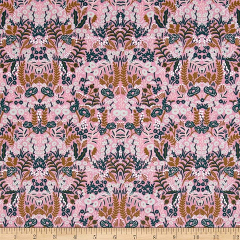 "Cotton and Steel- Rifle Paper Co Menagerie (sold in 25cm  (10"") increments)"