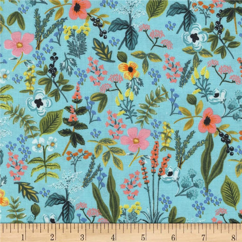 "Cotton and Steel- Rifle Paper Co Amalfi Herb Garden (sold in 25cm  (10"") increments)"