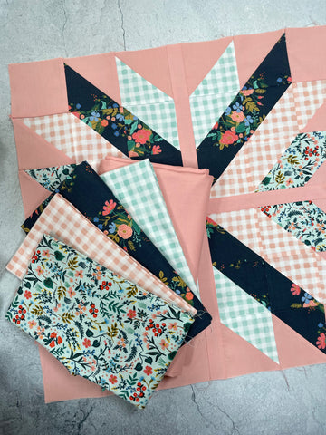 Penelope Handmade's 'Lottie Quilt' fabric bundle kit - throw size