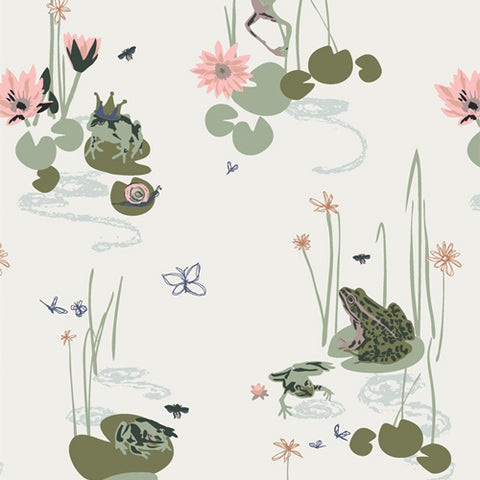 "Lillliput by Art Gallery Fabrics-  Bog Party (sold in 25cm  (10"") increments)"