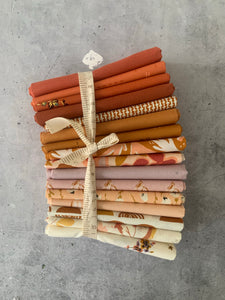 Curated Fat Quarter Bundle- 'Sienna Seranade' (16) Fat Quarters (Art Gallery Fabrics)