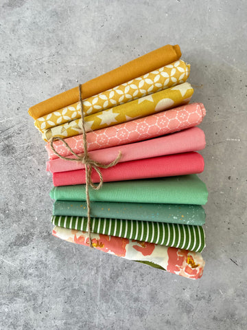 "Curated fat quarter bundle ""Garden Party""- 10 Fat Quarters (Art Gallery Fabrics, Ruby Star Society, Bella)"