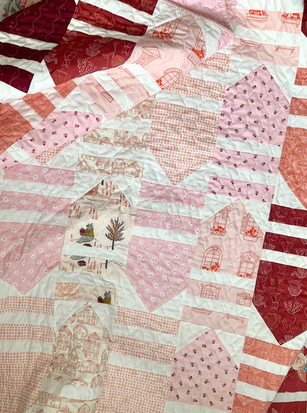 Modernly Morgan's 'House Party Quilt' fabric bundle kit- throw size  (Art Gallery Fabric, Riley Blake)