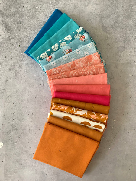 Curated fat quarter bundle 'Vivid Festival'- 16 Fat Quarters (Art Gallery Fabrics, Andover, Bella)