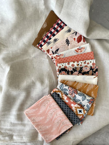 Modernly Morgan's' fabric bundle kit - 'Homespun Quilt' small throw size  (Art Gallery Fabrics Homebody collection + 100% linen