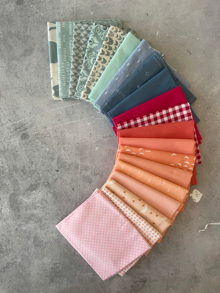 "Curated fat quarter bundle ""Sonoma sunrise"" - 20 Fat Quarters (Art Gallery Fabrics, Ruby Star Society, Andover, Bella)"