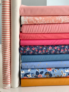 Suzy quilts 'Gather Quilt' fabric bundle kit - throw size  (Cotton + Steel, Bella, Kona and Riley Blake)