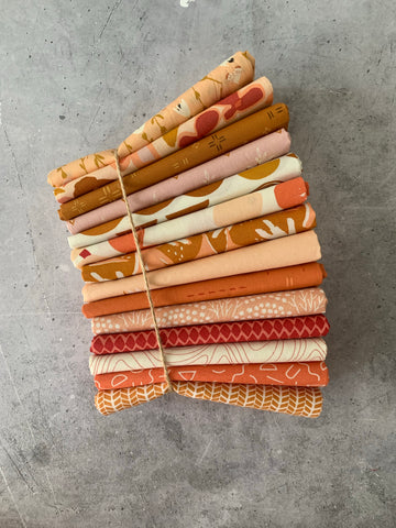 Curated Fat Quarter Bundle- 'Cornucopia' (14) Fat Quarters (Art Gallery Fabrics)