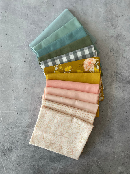 "Curated fat quarter bundle ""Country Pinafore"" - (12)  Quarters (Art Gallery Fabrics, Kitchen window wovens, Bella)"