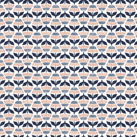 "Along the Fields by Cotton + Steel- Helenium Thundercloud Fabric (sold in 25cm  (10"") increments)"