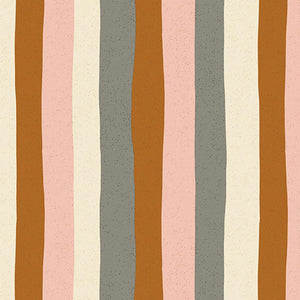 "Andover Perennial by Sarah Golden-  Perennial- Stripes (Pink Lemonade)(sold in 25cm  (10"") increments)"