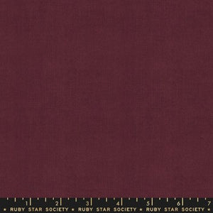"Warp and Weft by Ruby Star Society- Cross Weave in Wine Time (sold in 25cm  (10"") increments)"
