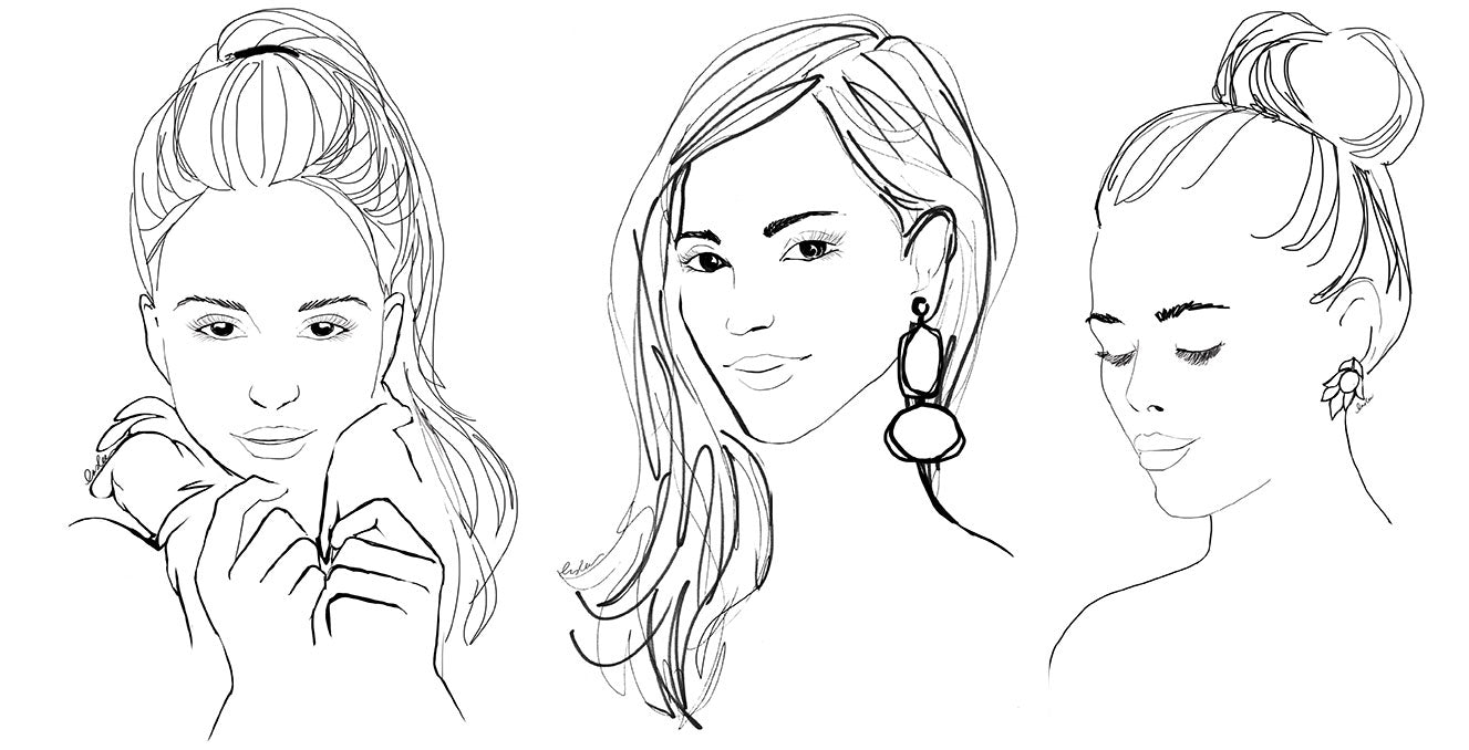 The sketch book tagged make up inslee fariss for Coloring pages of girls faces