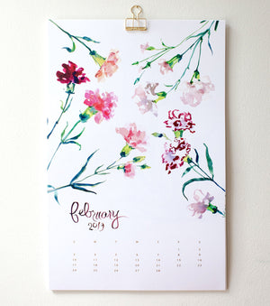 2019 Botanical Wall Calendar