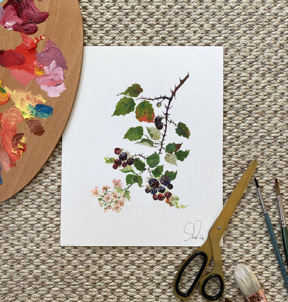 Botanical Print: Blackberry