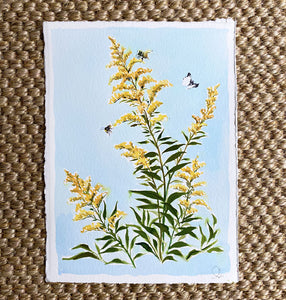 Goldenrod on Blue