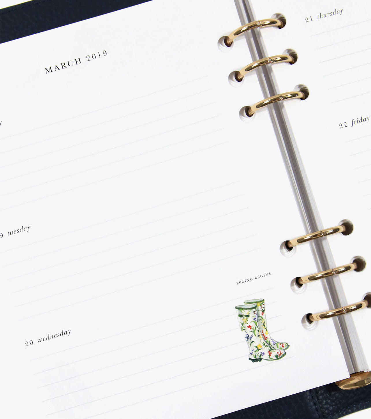 2019 Day Planner / Forest Green