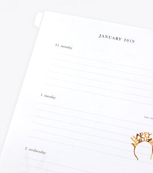 2019 Paper Refill for Day Planner