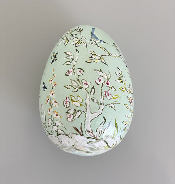 2020 Easter Egg: White Chinoiserie on Mint