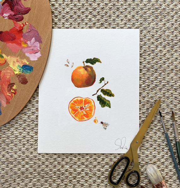 Botanical Print: Orange