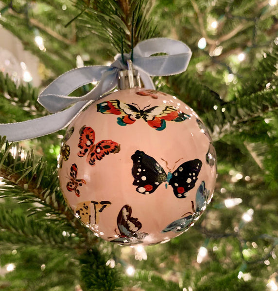 2019 Ornament: The Pale Pink Butterfly One